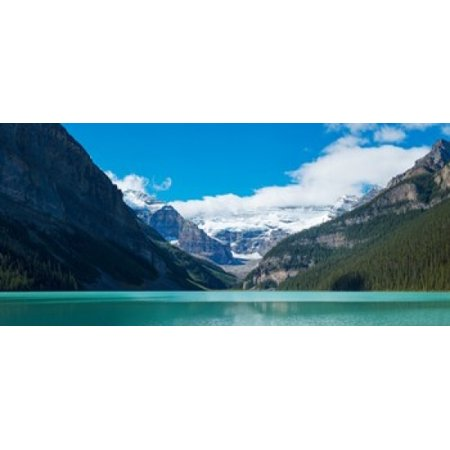 Lake with Canadian Rockies in the background Lake Louise Banff National Park Alberta Canada Poster Print