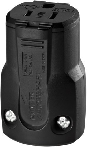 Cooper AH5969BK Black Heavy Duty Quick Grip Connector 15A 125V by Cooper Wiring Devices-Arrow Hart