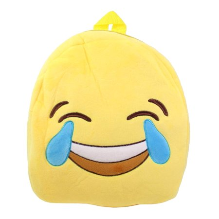 Cute Emoji Smiling to Crying Face Kids Children Backpack Bag Satchel New