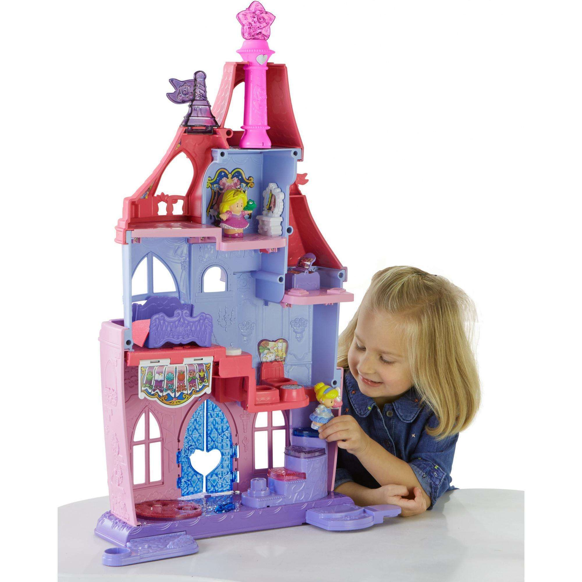 Fisher price little people disney princess royal ball for Little princess castle