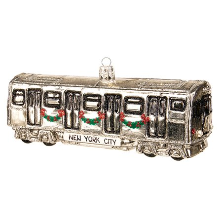 Polish Decorations (New York City Subway Car Polish Glass Christmas Ornament  NYC Tree)
