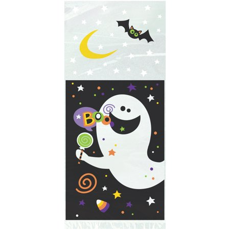 Halloween Bag Crafts - Happy Halloween Cellophane Bags, 11 x 5 in, 20ct