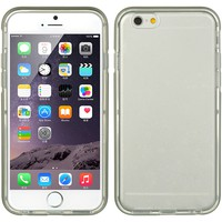 APPLE IPHONE 6 PLUS/6S PLUS HYBIRD CASE ULTRA THIN AGUA CLEAR + GRAY FRAME-TCAIP6LAUGY