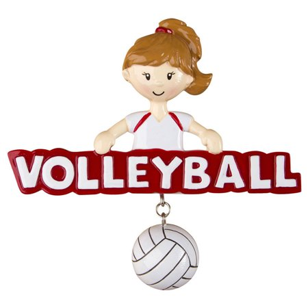 Volleyball Girl Personalized Christmas Ornament - Personalized Volleyball