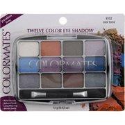 Colormates 12 Pan Eyeshadow Palette, Cool Tone 8102, 0.42 oz