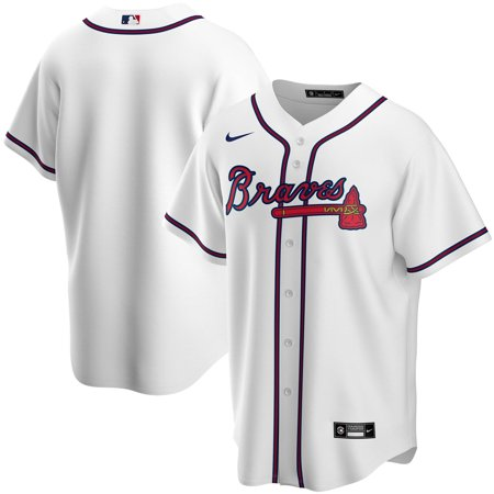 Atlanta Braves Nike Home 2020 Replica Team Jersey - White 10 Nike Replica Home Jersey