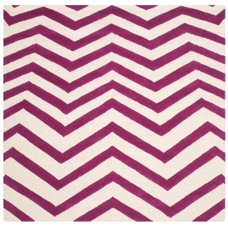 Safavieh Cambridge 8' X 10' Hand Tufted Wool Rug in Ivory and Fuchsia - image 4 of 10