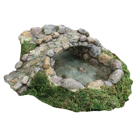 Miniature Stone Pond and Cobblestone Bridge Fairy Garden Accessory Dollhosue Decor