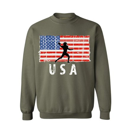 Awkward Styles American Football USA Crewneck USA Pride USA Patriotic Men Women Sweater Patriotic Gifts Vitage USA Flag Sweatshirt for Men 4th of July Party Vitage USA Flag Sweatshirt for Women