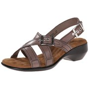 Walking Cradles Women's Lythe Sandal, 6.5 M US, Taupe Leather