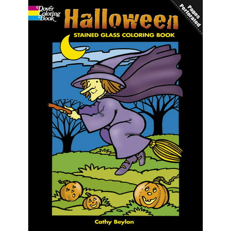 Halloween Stained Glass Coloring Book