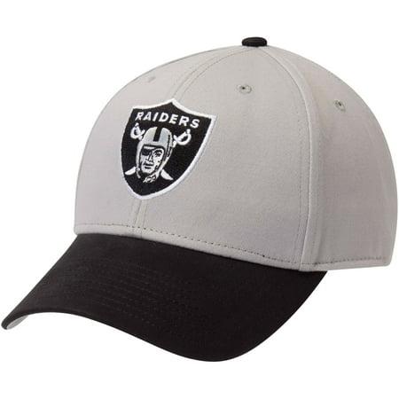 Men's Fan Favorite Gray/Black Oakland Raiders Two-Tone Adjustable Hat - OSFA (Oakland Raiders Accessories)