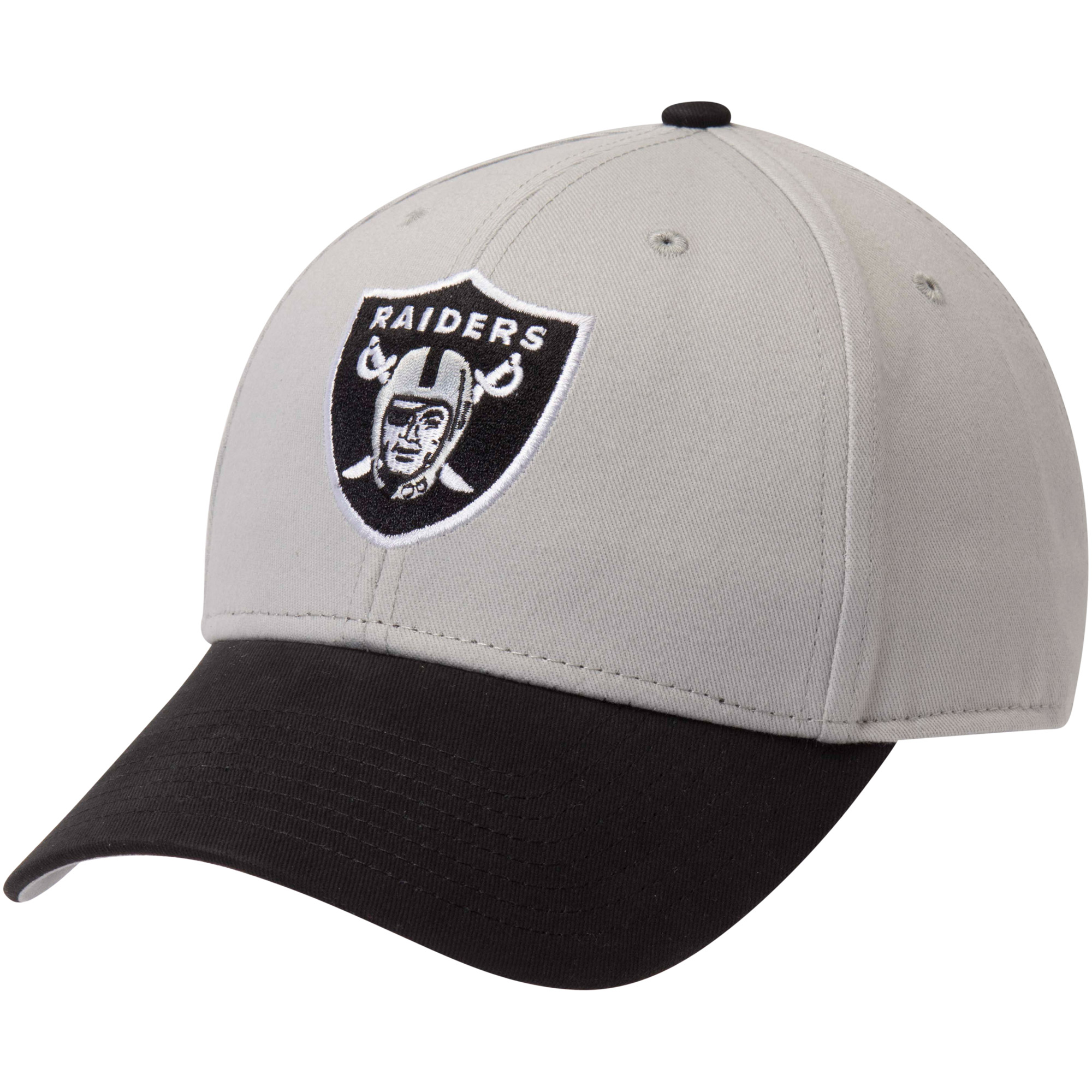 Men's Fan Favorite Gray/Black Oakland Raiders Two-Tone Adjustable Hat - OSFA
