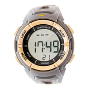 Everlast Men's HR3 Heart Rate Monitor Watch with Continuous Readout and Transmitter Belt, Grey Plastic Band