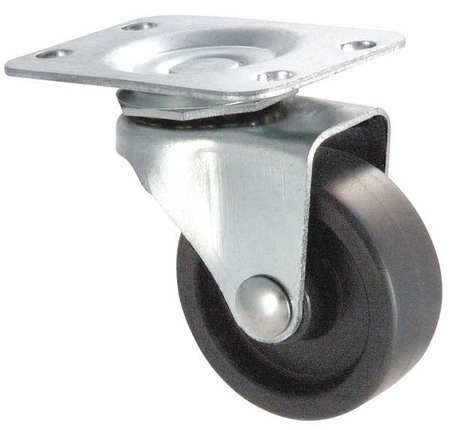 Swivel Plate Caster,Poly,2 in.,100 lb.,D ZORO SELECT 1UHP6