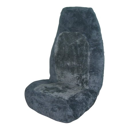 Allison 65-6796GRY Gray Genuine Sheepskin Universal Bucket Seat Cover - Pack of