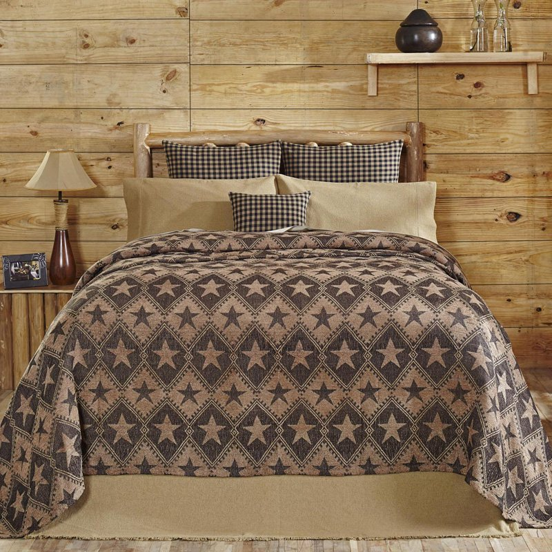 Jefferson Star Coverlet by VHC Brands by VHC Brands