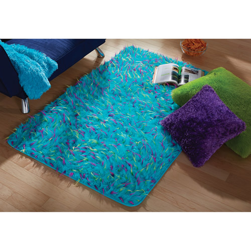 your zone blue spiker rug, 3' x 4'8""