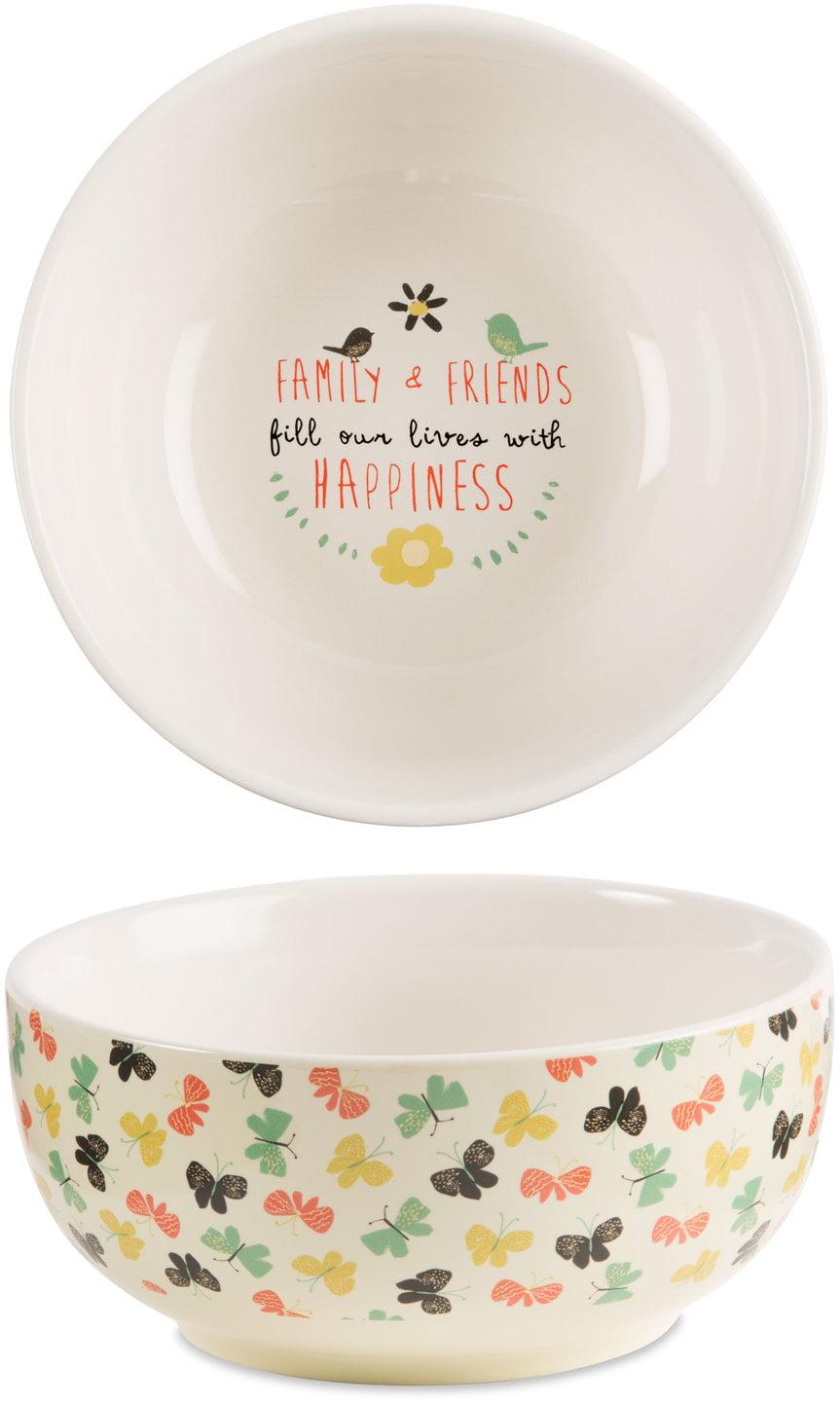Pavilion Family Friends Fill Our Lives With Happiness Decorative Ceramic Bowl Walmart Com Walmart Com