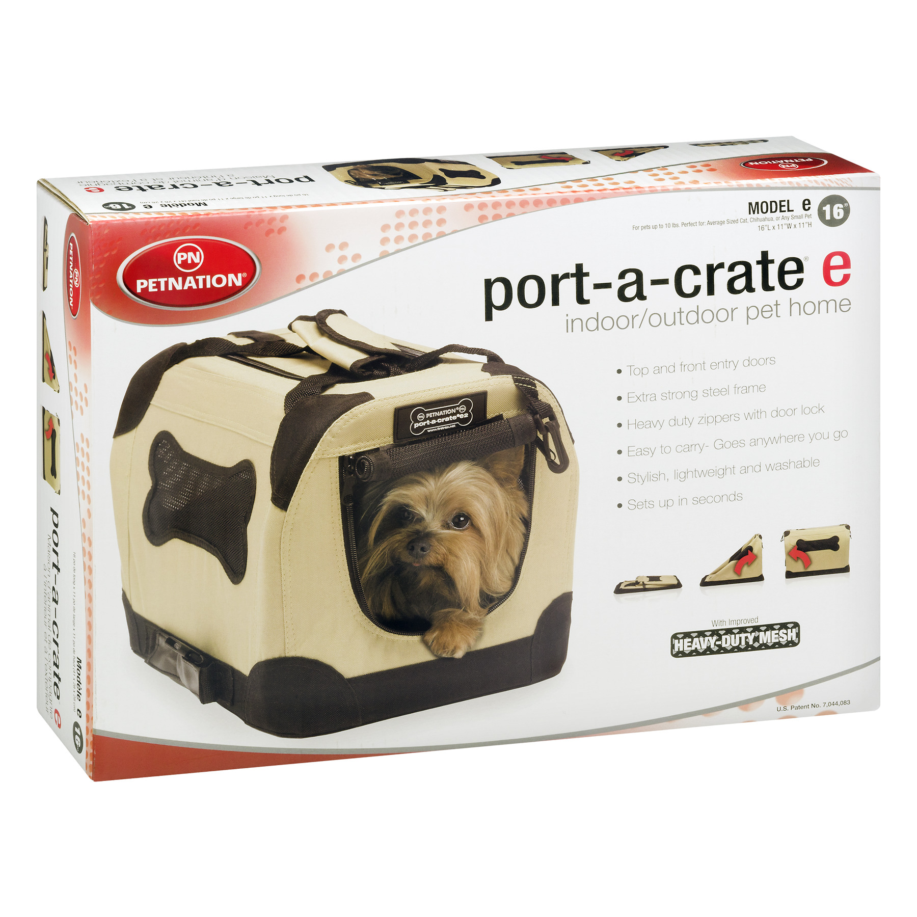 Petnation Dog Port-A-Crate, Available in Multiple Sizes - Walmart.com