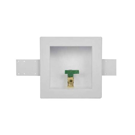 Oatey 39156 Square Ball Ice Maker Outlet Box, Copper Sweat Inlet Connection
