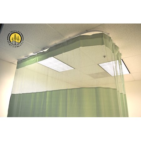 DevLon NorthWest Medical Curtains Privacy Hospital Cubicle Curtain With Flexible Track 10 Foot W x 9.3 Foot H Light Green ()