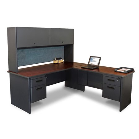 Marvel Office Furniture Pronto L-Shape Executive Desk with Hutch