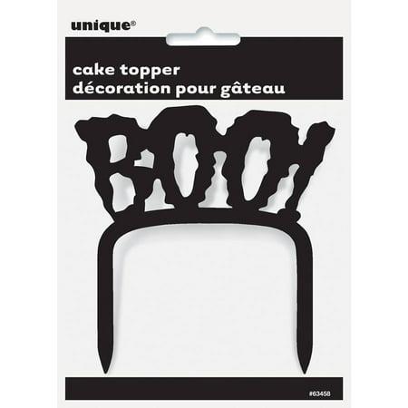 Plastic Boo! Halloween Cake Topper for $<!---->