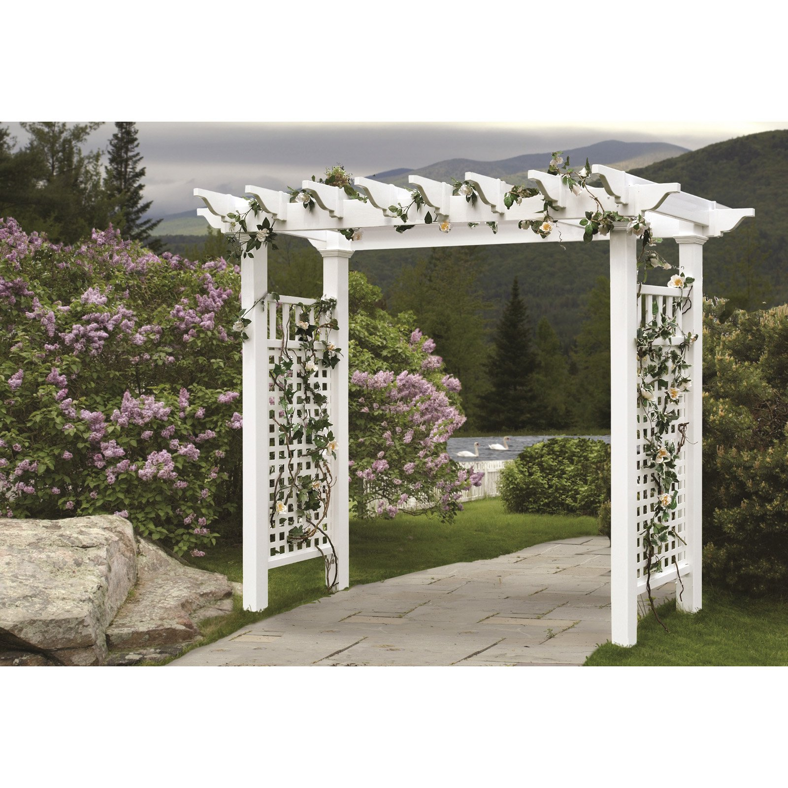 New England Arbors Fairfield Grande 7-ft. Arbor by New England Arbors