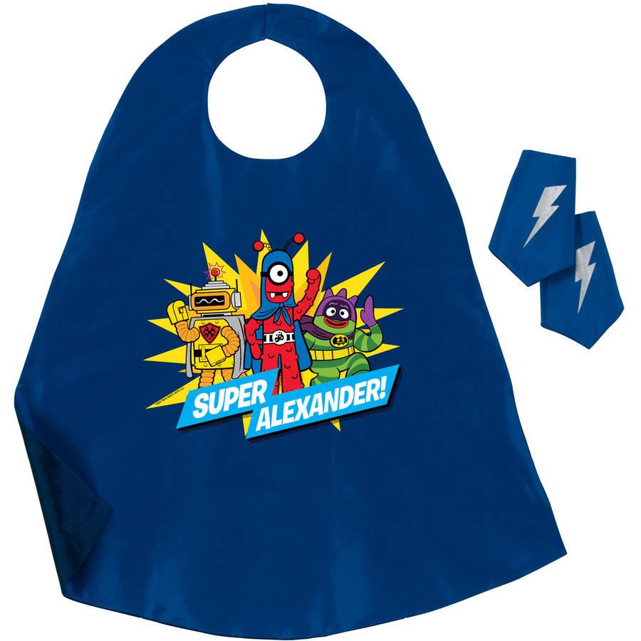 Personalized Yo Gabba Gabba Hero Cape and Cuff Set, Blue