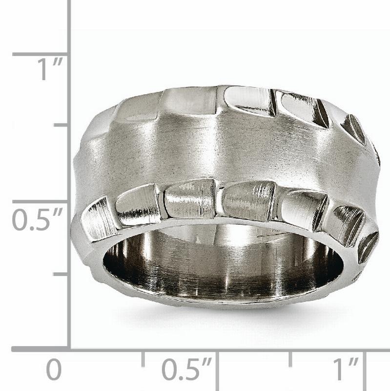 Titanium 12 MM Brushed Domed Wedding Band