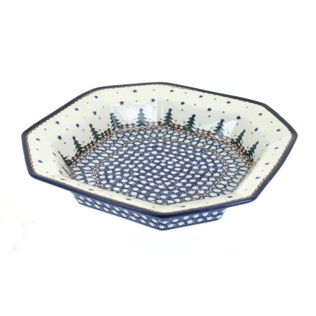 - Polish Pottery Rustic Pines Small Octagonal Dish