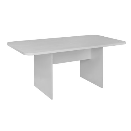 Niche Mōd 6' Conference Table with No-Tools Assembly- White Wood Grain