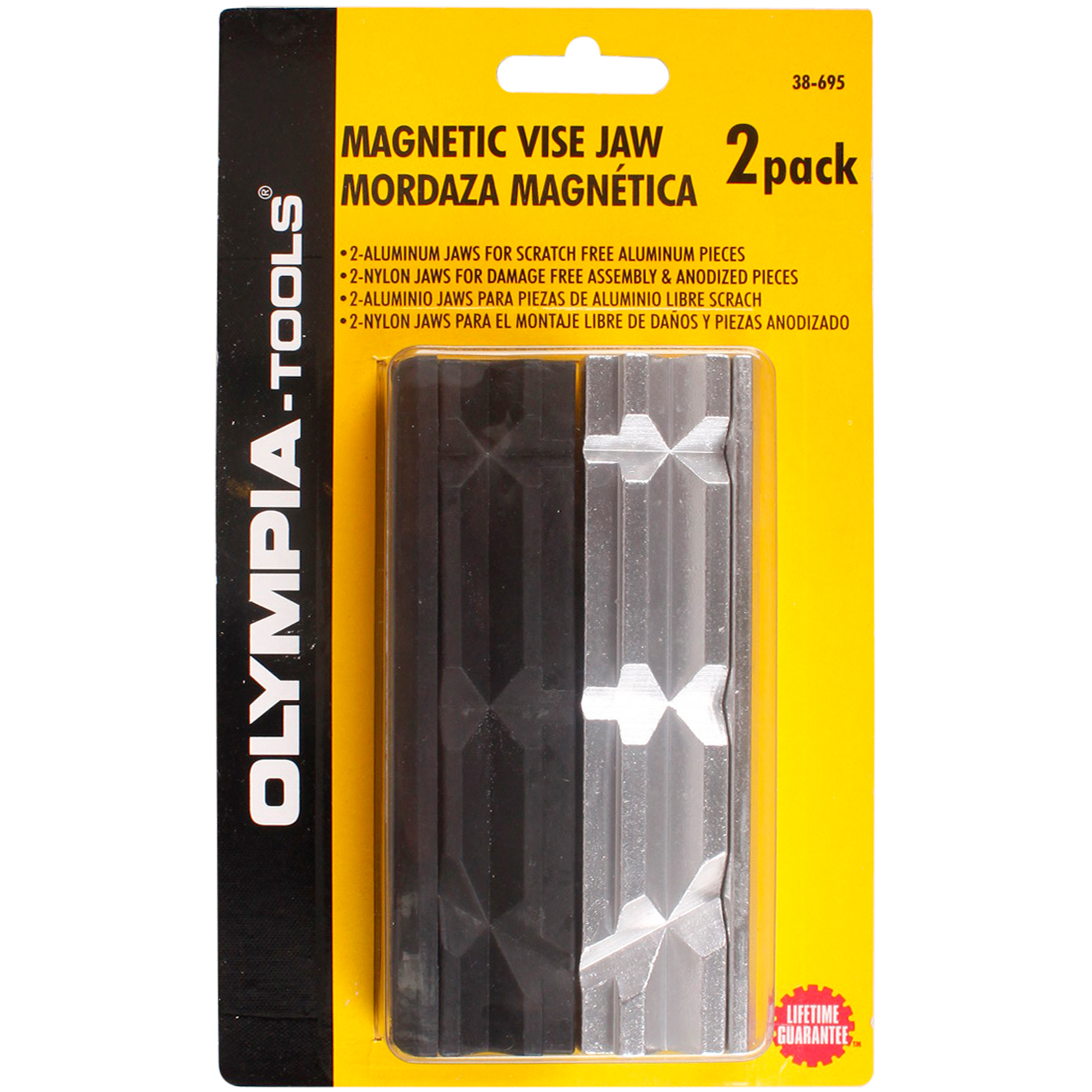 Olympia Tools 2 Pack Magnetic Vise Jaw