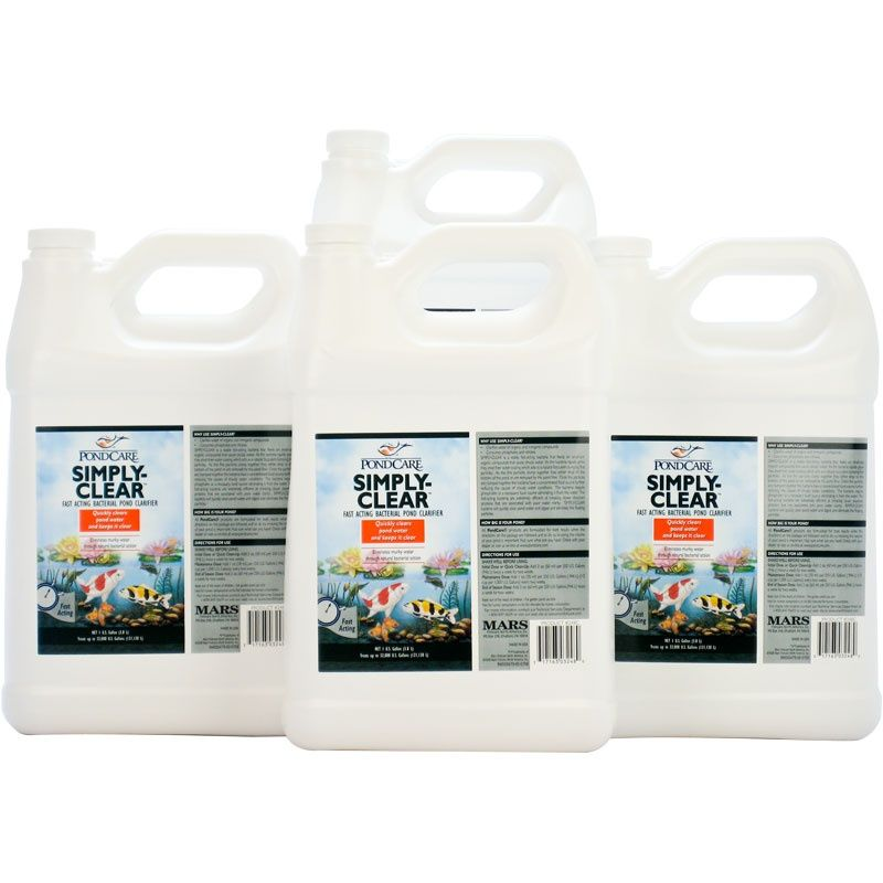 Pondcare Simply Clear Pond Clarifier - BULK - 4 Gallons - Treats 128,000 Gallons - (4 x 1 Gallon)