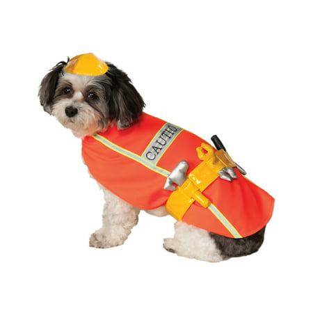 Construction Worker Orange Vest Pet Dog Cat Halloween Costume (Dog Hot Dog Halloween Costume)