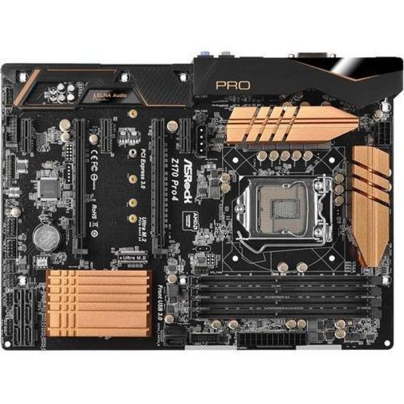 ASRock Z170 PRO4 LGA1151/ Intel Z170/ DDR4/ Quad CrossFireX/ SATA3&USB3.0/ M.2&SATA Express/ A&GbE/ ATX Motherboard