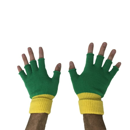 Ash Ketchum Fingerless Gloves Pokemon Go Trainer Costume Cosplay Green Adult USA - Ash Female Cosplay
