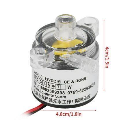 TOPINCN Pompe, pompe à eau, pompe à eau sans brosse submersible submersible de catégorie comestible 12V DC 6W 2L / min - image 6 de 8