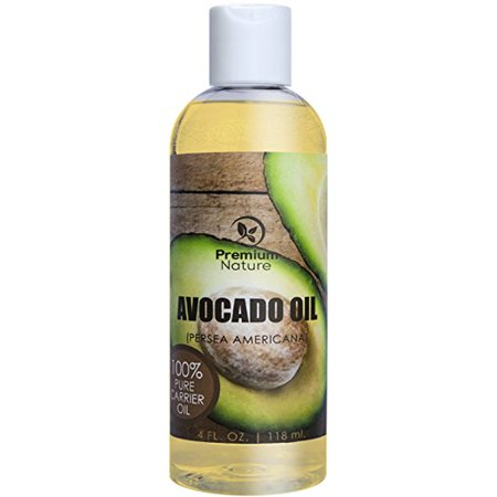 Avocado Oil,Natural Carrier Oil 4 oz, Rich In Protein, Amino Acids & Vitamins A, D & E, Prevents Aging, Treats Dry, Irritated & Acne Prone Skin - By Premium