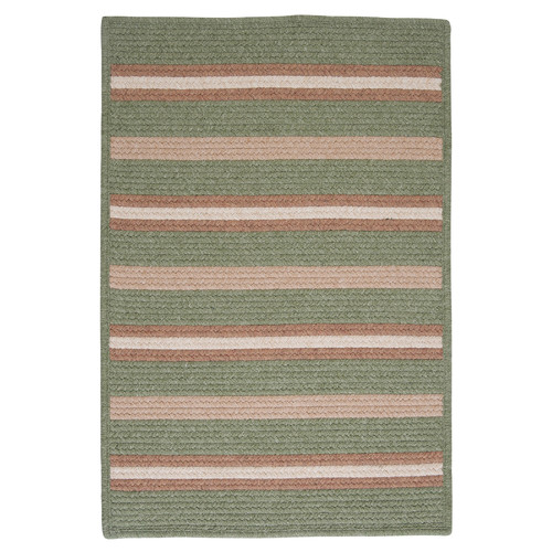 Colonial Mills Salisbury Green Striped Area Rug