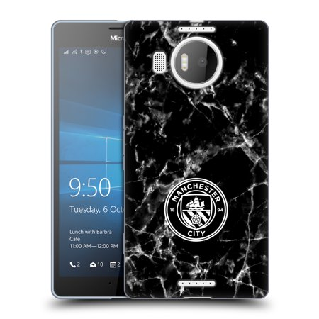 OFFICIAL MANCHESTER CITY MAN CITY FC 2017/18 MARBLE BADGE SOFT GEL CASE FOR MICROSOFT PHONES