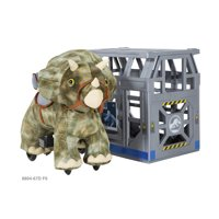 Deals on 6 Volt Jurassic World Triceratops Plush Ride-On