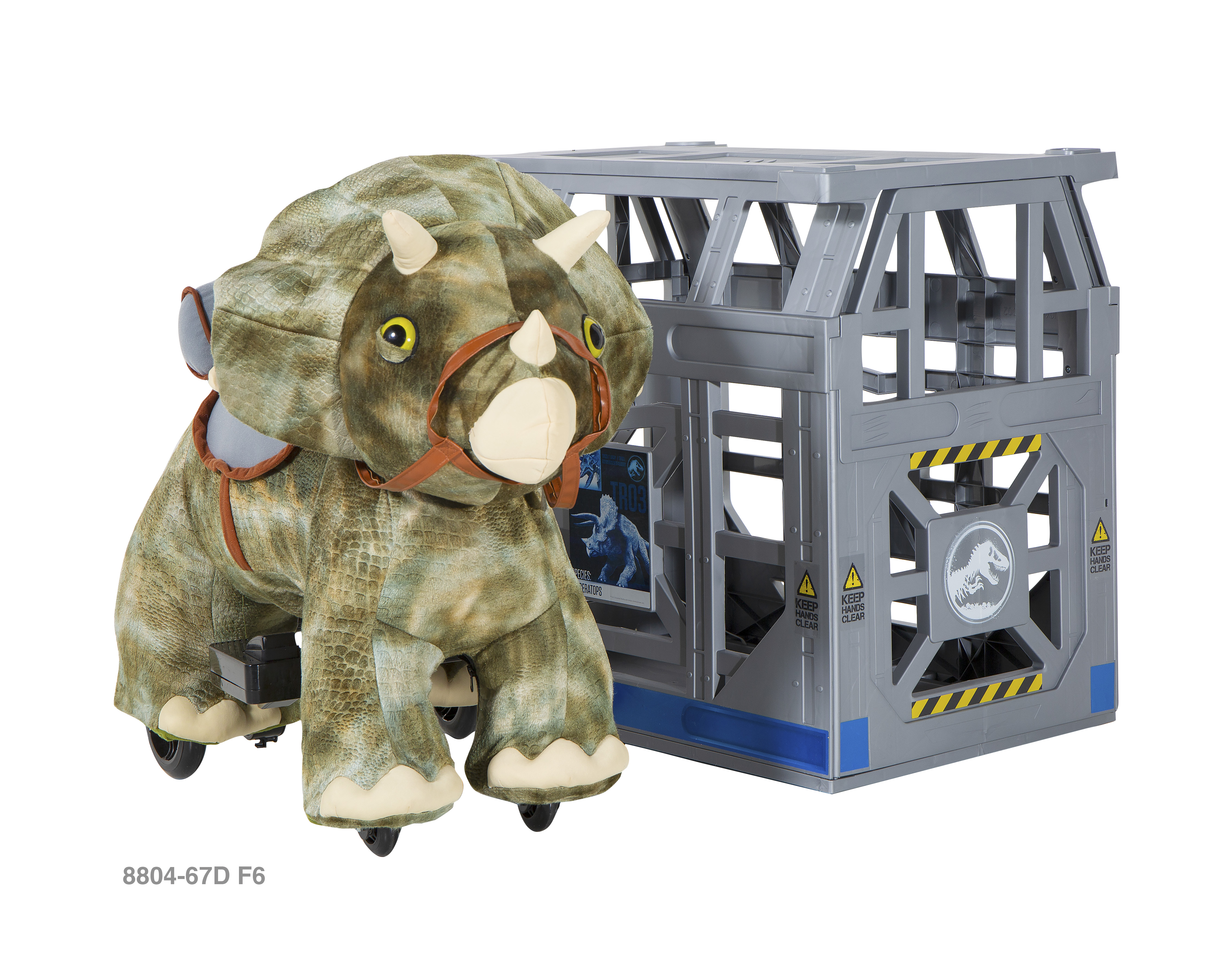 Jurassic World 6 Volt Triceratops Plush Ride-On