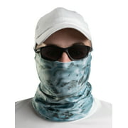 Aqua Design Men Washable Reusable Water Camo UPF 50+ Sun Guard Protection Mask Face Tube Multipurpose Wind Head Neck Sizes Youth to Adult XL Sports Fishing Backpacking Gaiter