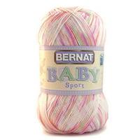 Bernat Baby Sport Acrylic Tiny Tulips Yarn, 1 Each