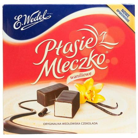 Ptasie Mleczko Chocolate Covered Vanilla Marshmallow (birds milk chocolate), 13.4 Oz.Includes Our Exclusive HolanDeli Chocolate Mints.
