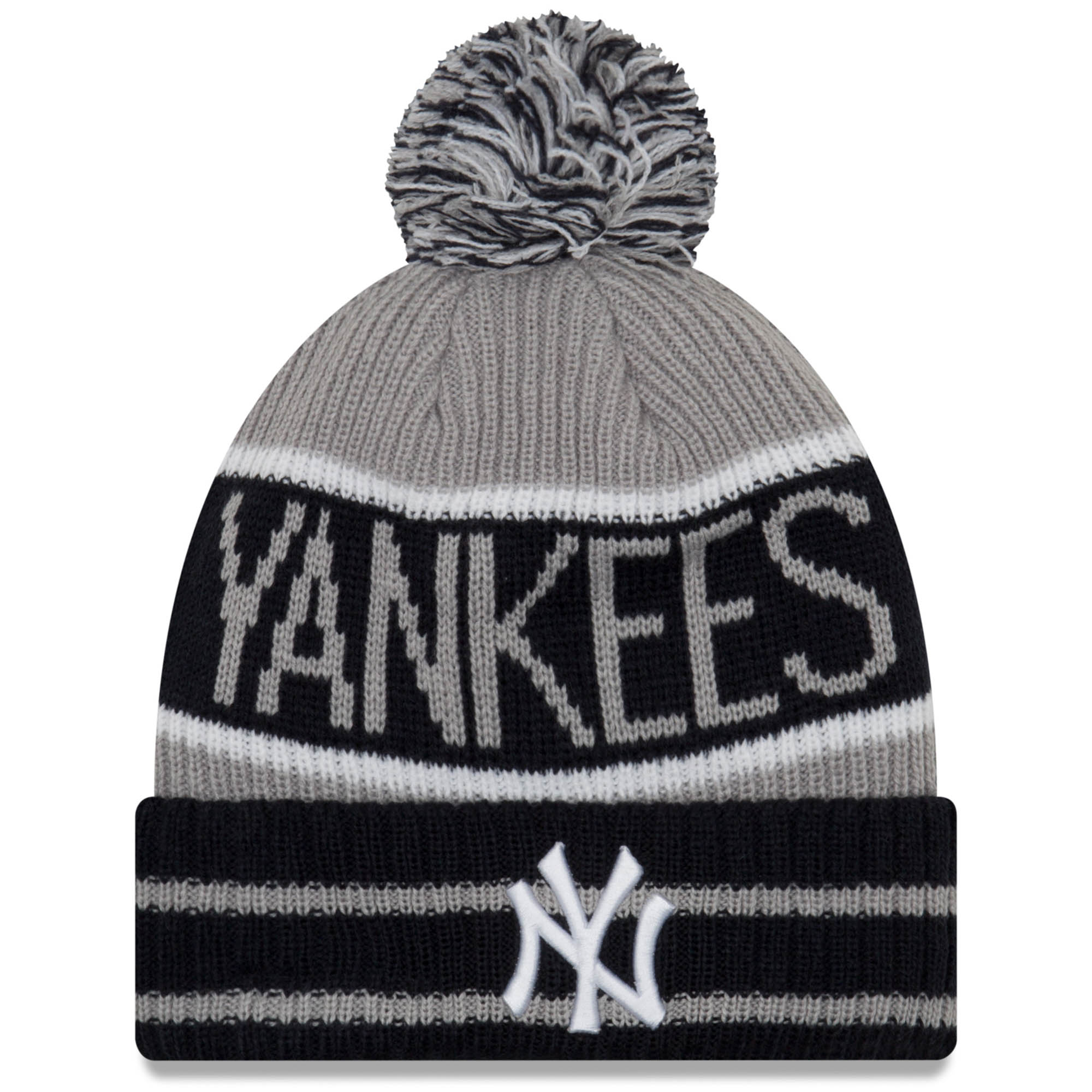 6a67ea692c82f ... italy new york yankees new era banner block cuffed knit hat with pom  navy osfa 18998