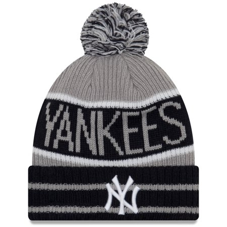c2ff2789d19 New York Yankees New Era Banner Block Cuffed Knit Hat With Pom ...