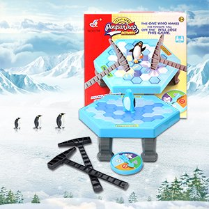 None Puzzle Table Games Balance Ice Cubes Save Penguin Icebreaker Beating Interactive Desktop Party Games (38 pcs ices)](Club Penguin Halloween Party Game On)
